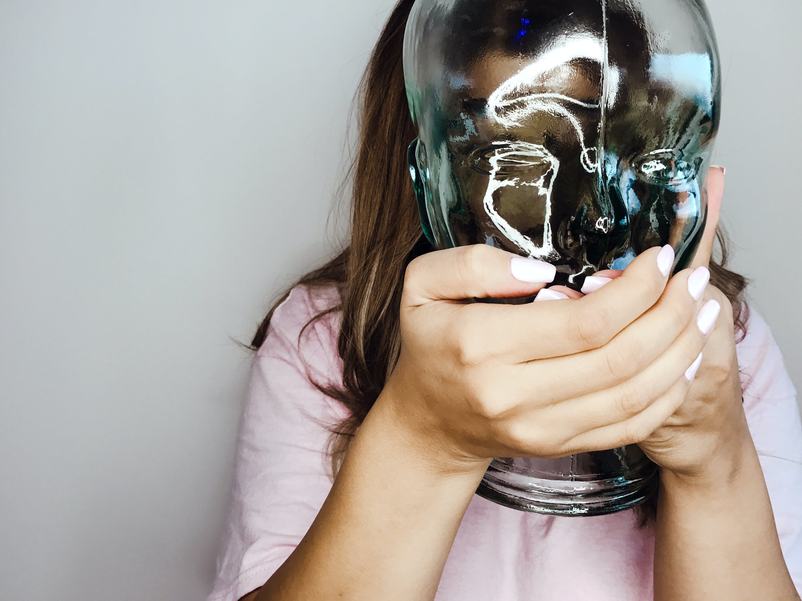 Free stock photo of hands, glass, hidden, head