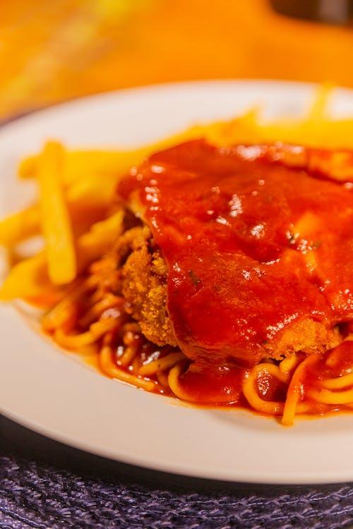 おいしい, お肉, スパゲッティの無料の写真素材