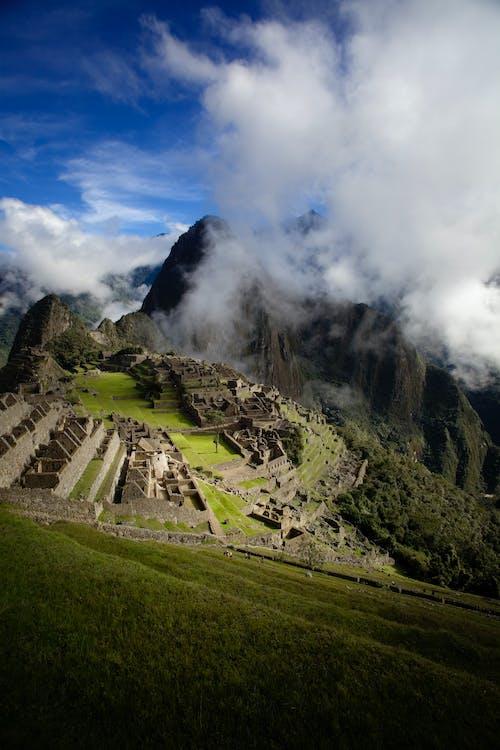 Foto stok gratis Amerika Selatan, awan, gunung, kuno