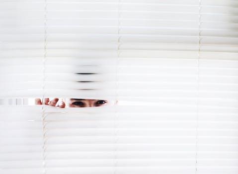 Photography of Person Peeking