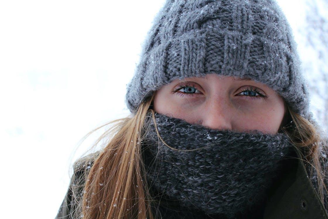 forkølelse, frost, halstørklæde