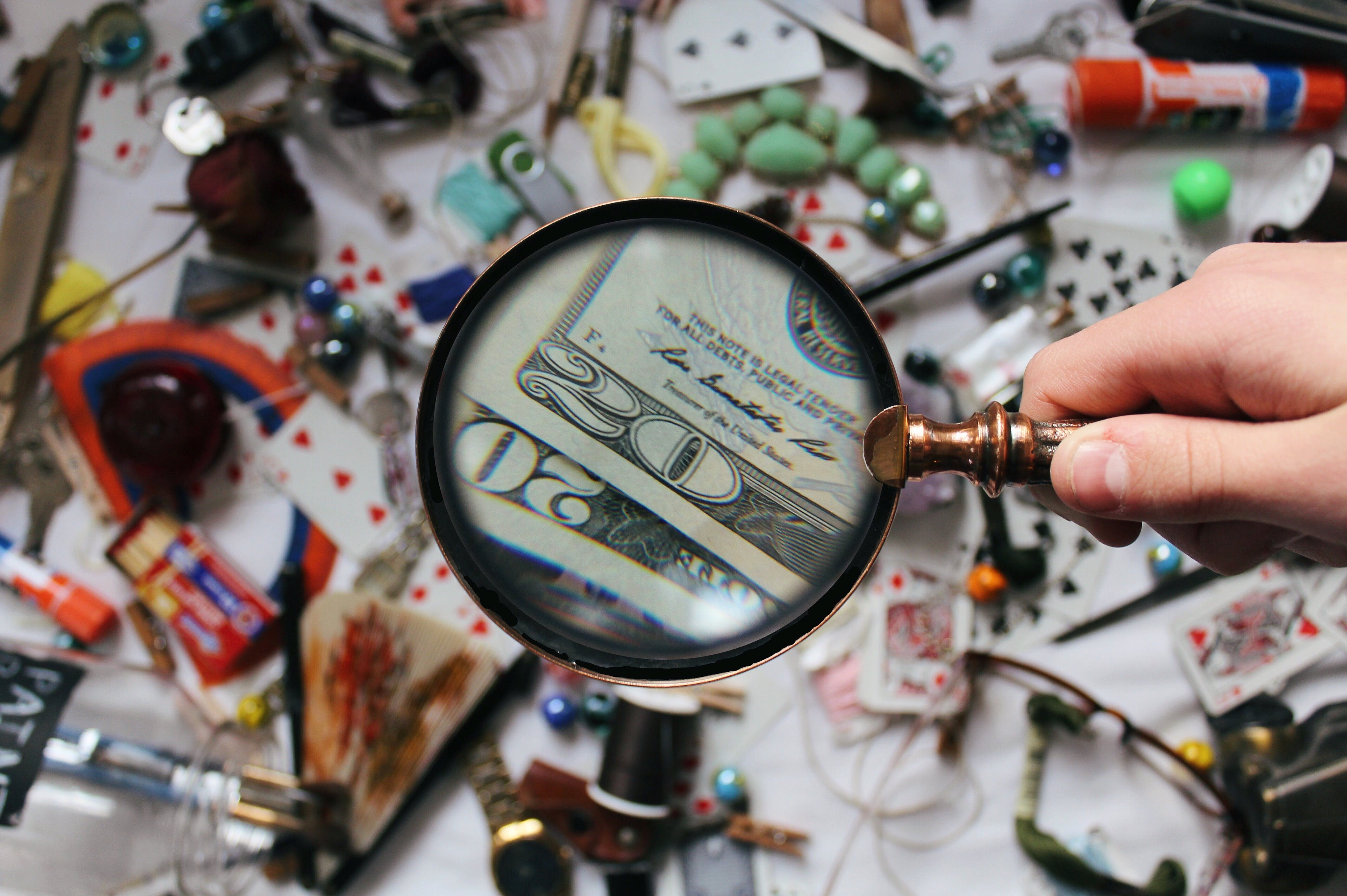 Close-up Photography of Magnifying Glass