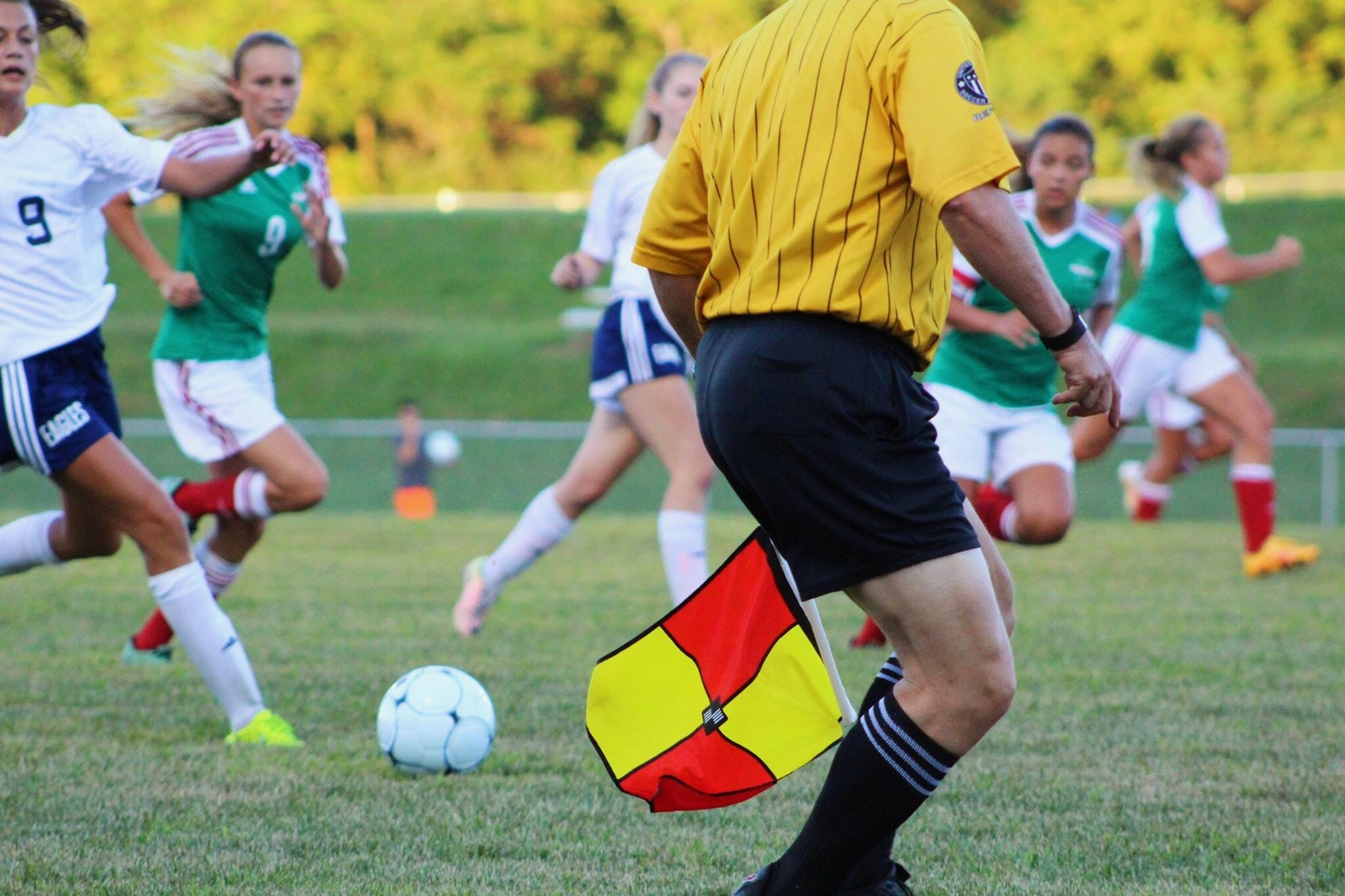 Woman Athletes Playing Soccer