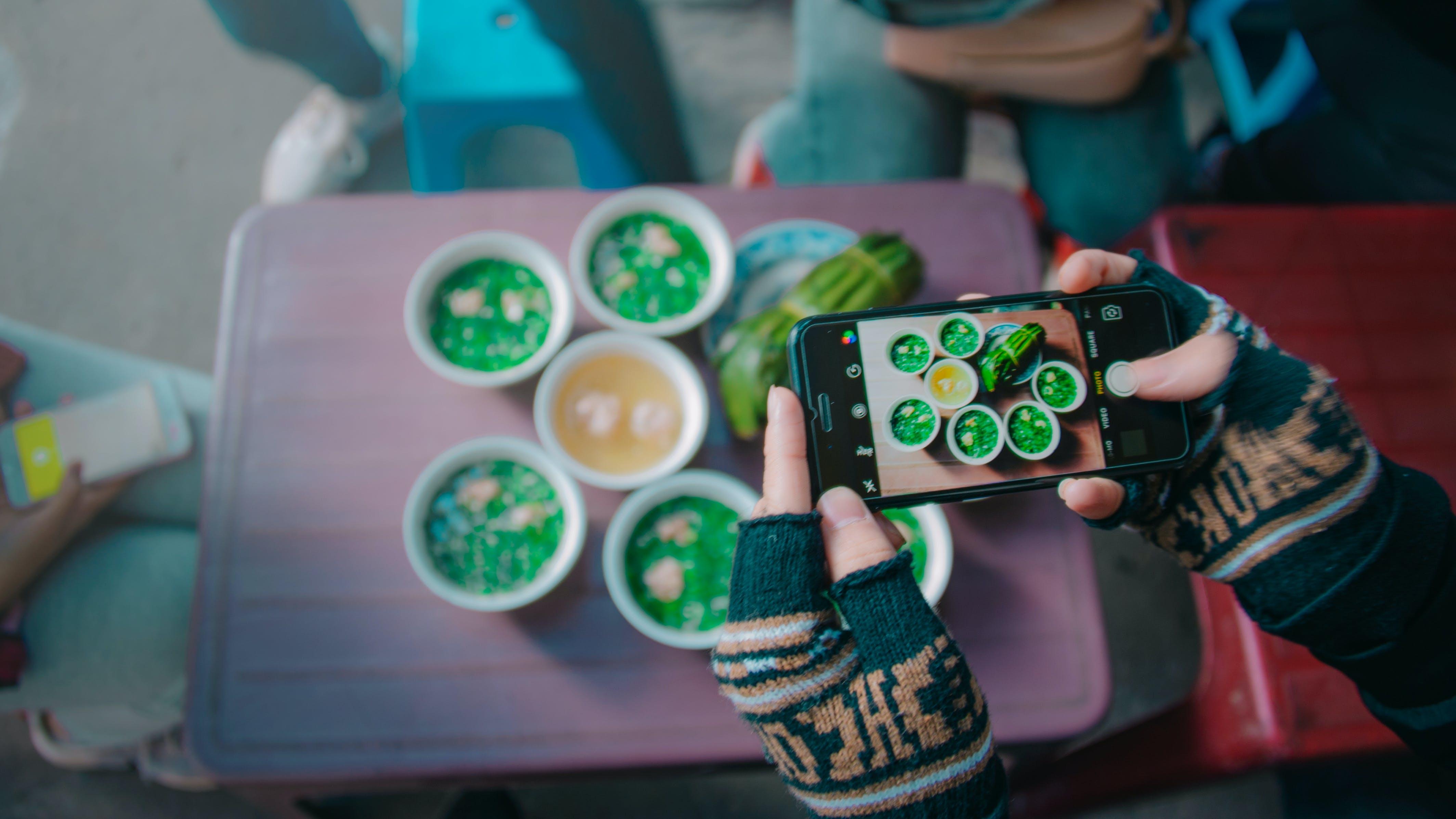 Kostenloses Stock Foto zu bildschirm, essen, essensfotografie, farbe