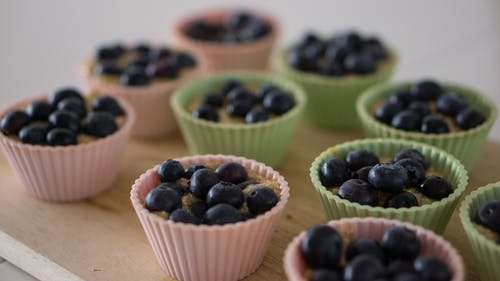 Free stock photo of baking, blueberry, cupcakes, food