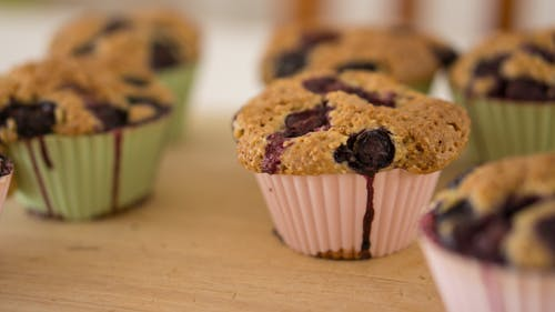 Free stock photo of baked goods, baking, blueberry, cupcakes