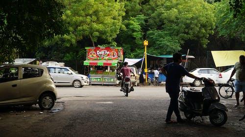 Free stock photo of cars, delhi, green