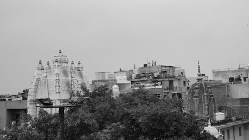 Free stock photo of b&w, clouds, delhi