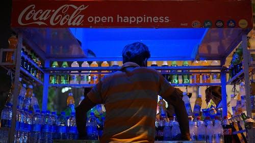 Free stock photo of coca cola, night lights, street