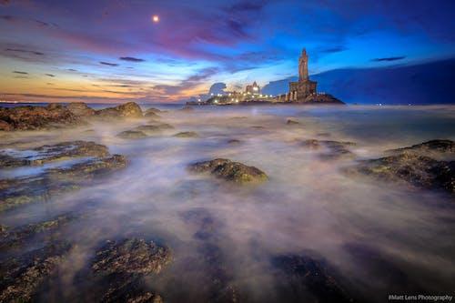 Ilmainen kuvapankkikuva tunnisteilla maisema, meri, merimaisema, pitkä valotusaika