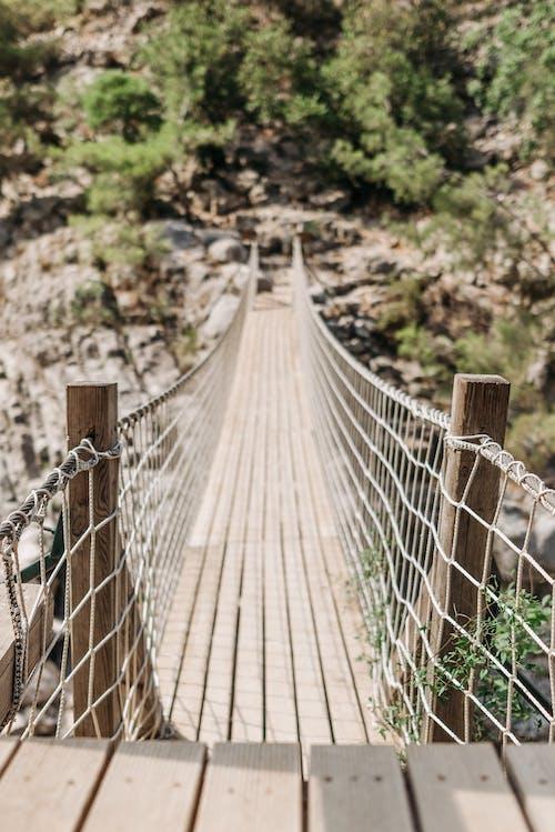 A Hanging Wooden Bridge