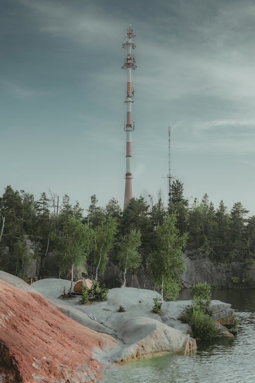 Free stock photo of beatiful landscape, camp, connection