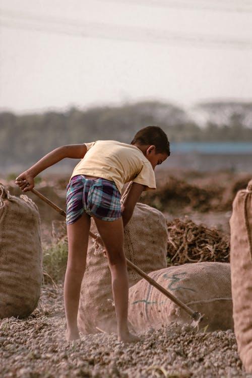 Child Doing Labor