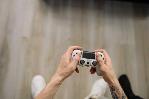 Foto profissional grátis de controle de videogame, de cima, games