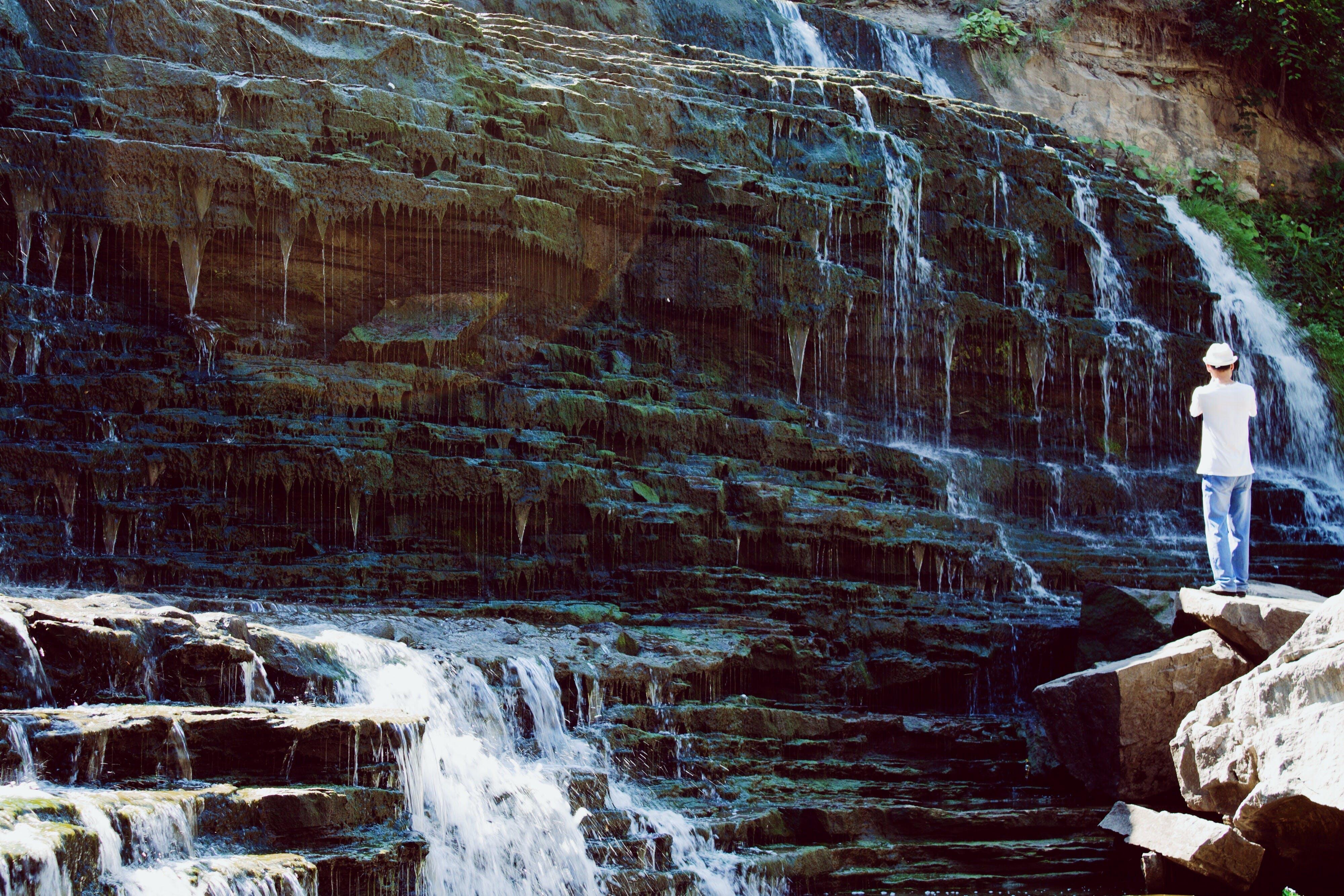 Foto profissional grátis de água, cachoeiras, com frio, corrente