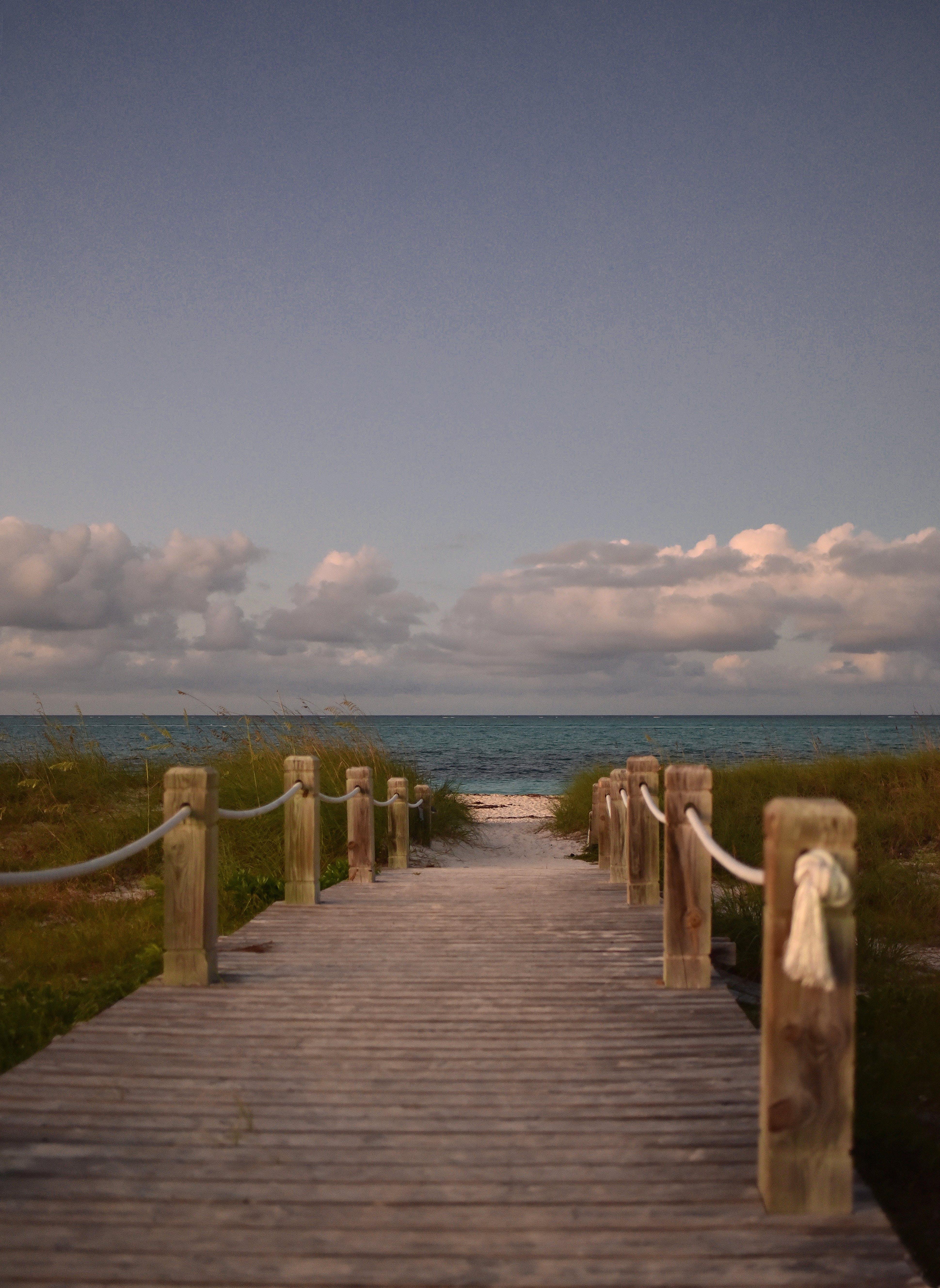 Free stock photo of beach, boardwalk, dusk, ocean