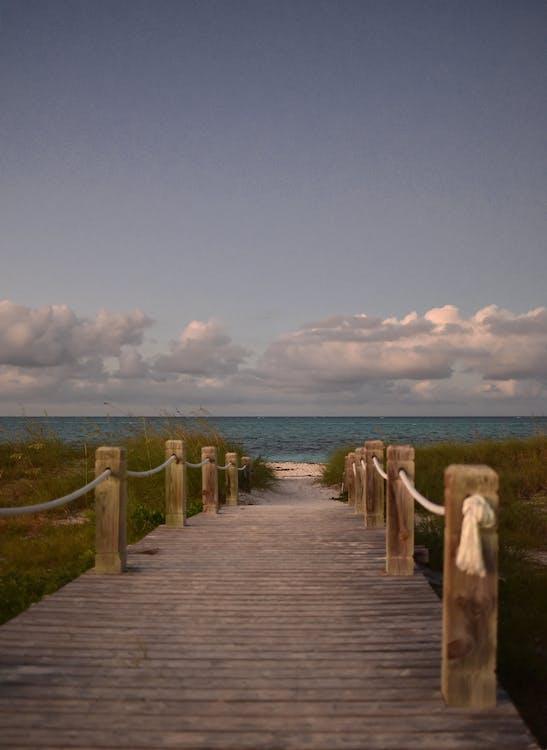 cesta, dovolená, molo