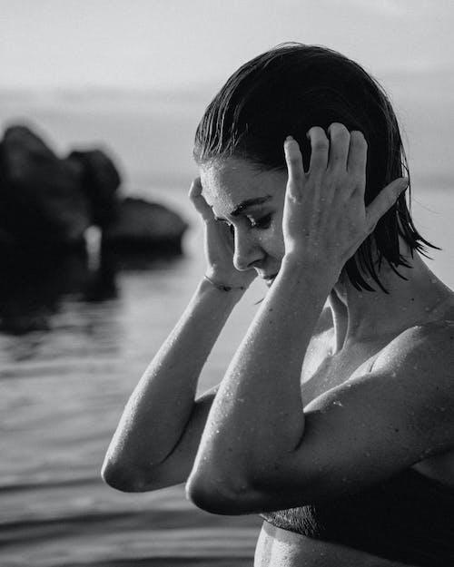 Immagine gratuita di acqua, bagnato, donna
