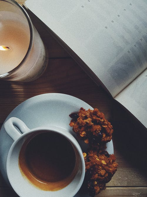 Free stock photo of afternoons, biscuits, coffee, sweets