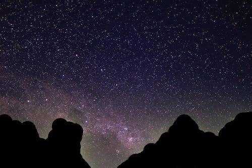 Gratis arkivbilde med kosmisk, melkeveien, nattehimmel, stjerner