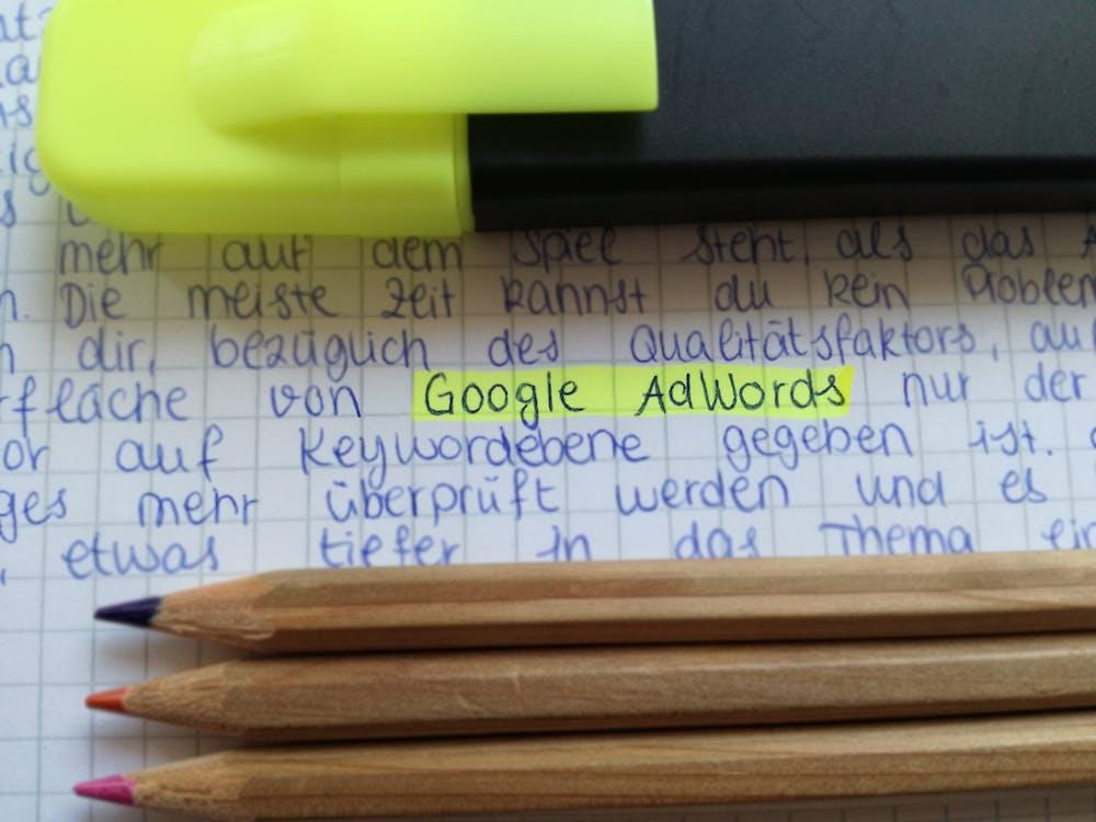 Gratis arkivbilde med adwords, blyanter, digital markedsføring