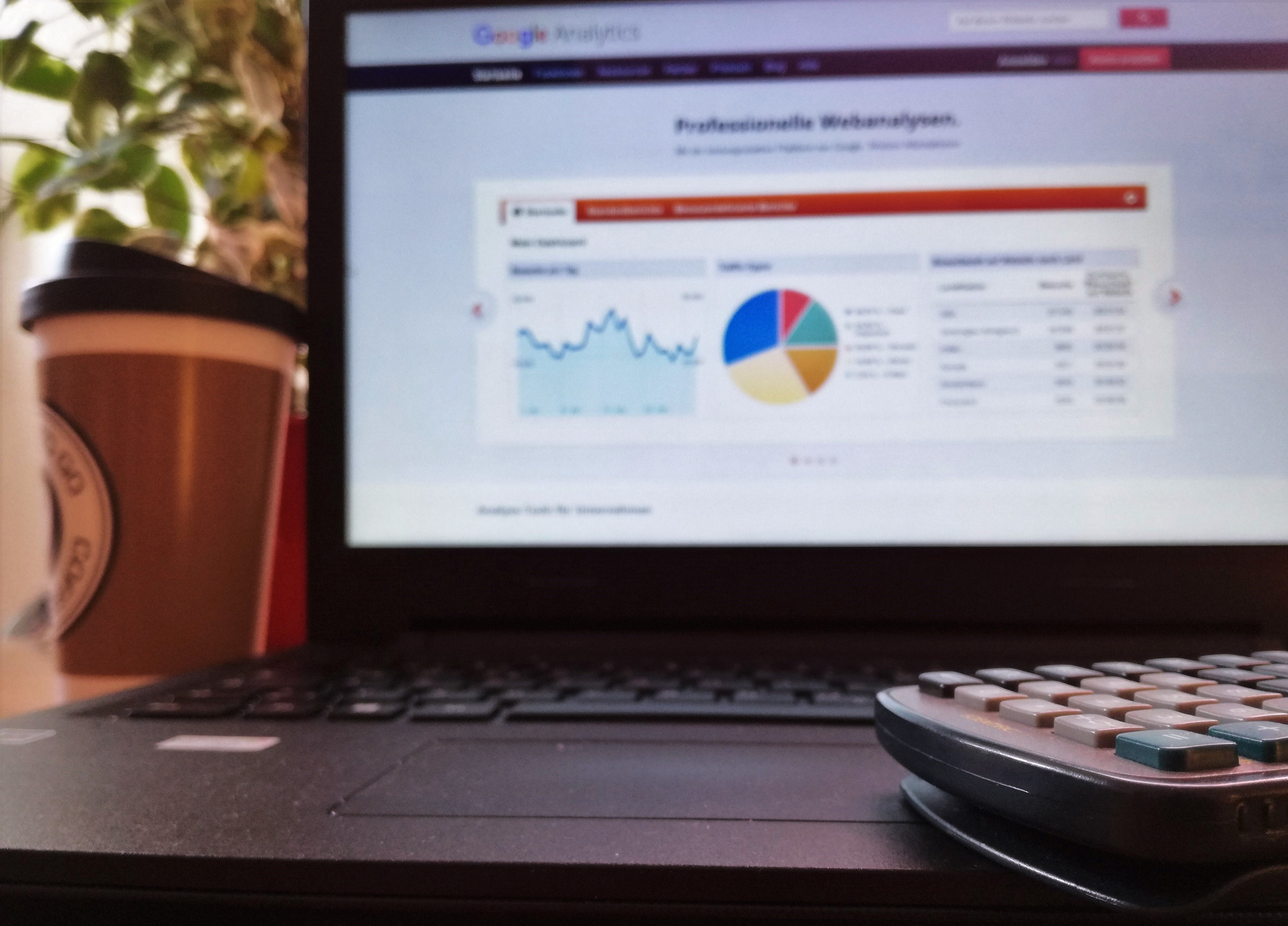 Free stock photo of analytics, calculator, coffee, digital marketing