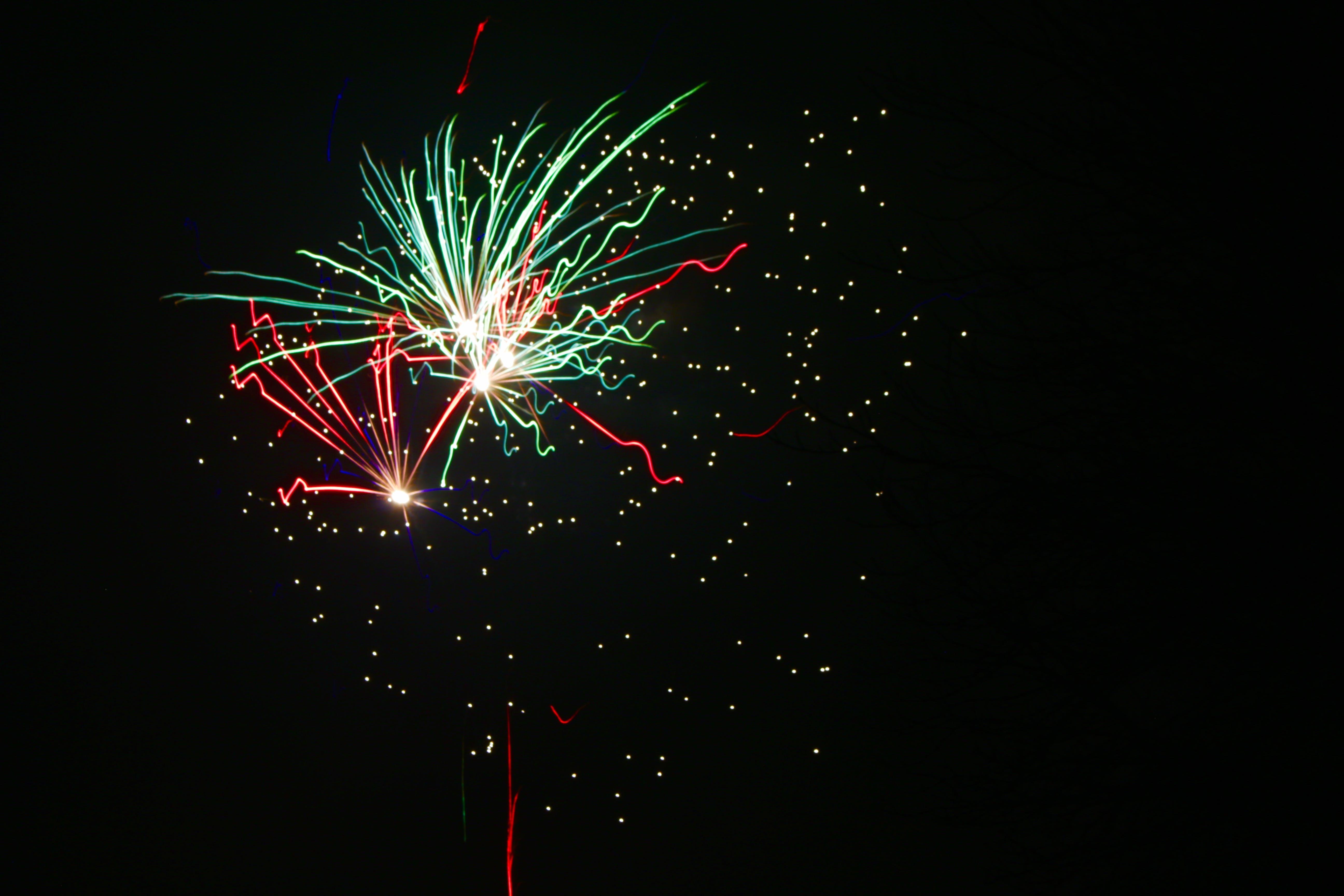 Free stock photo of firework, green, light, lights