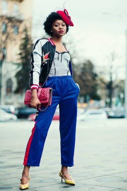 afroamerikansk kvinde, dame, fashionabel