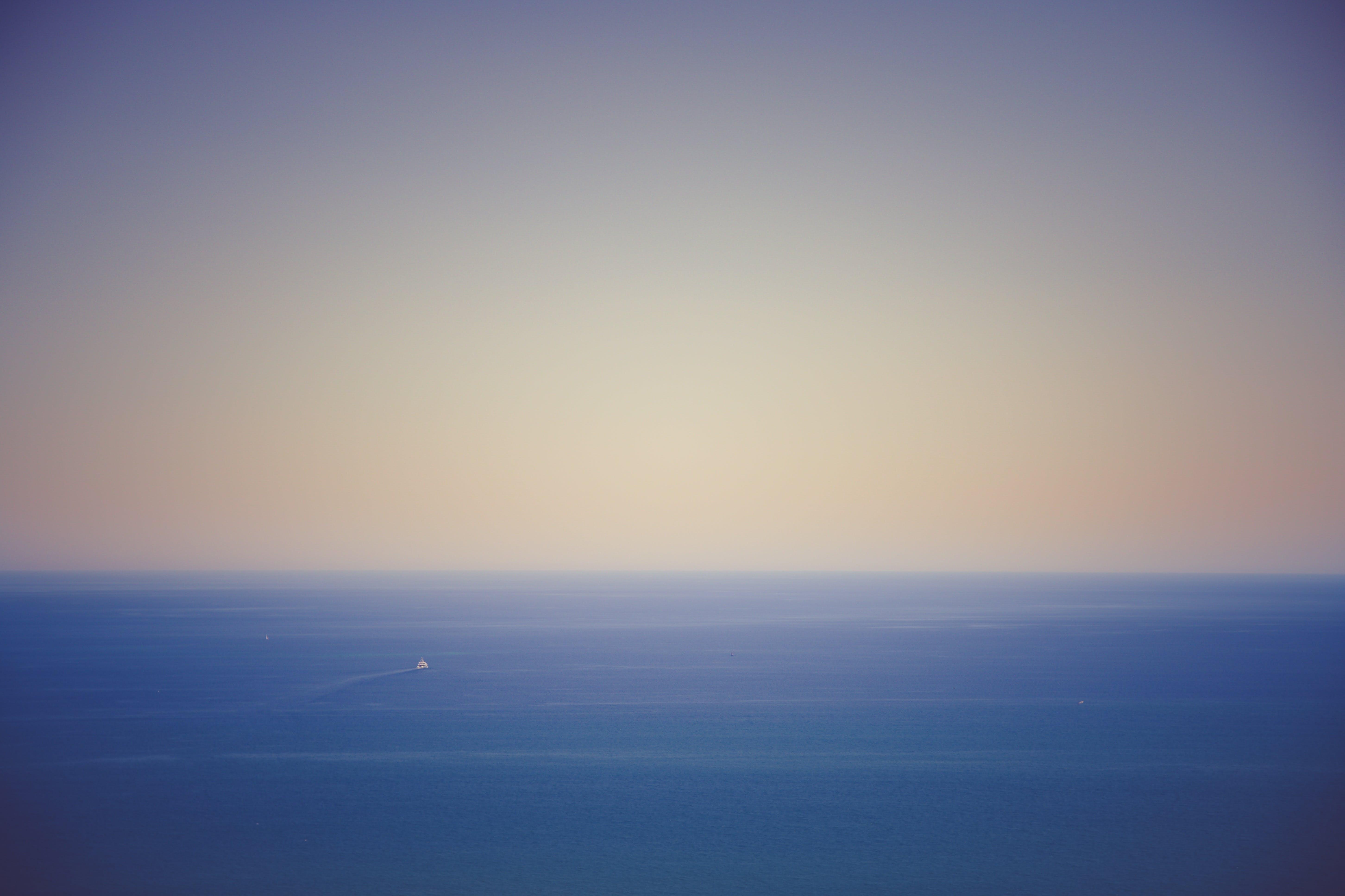 Free stock photo of sea, sky, water, boat
