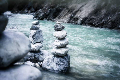 ケルン, ロックバランス, 水, 石の無料の写真素材