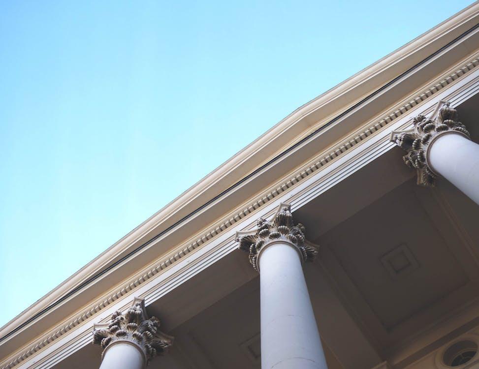 White Painted Pillars