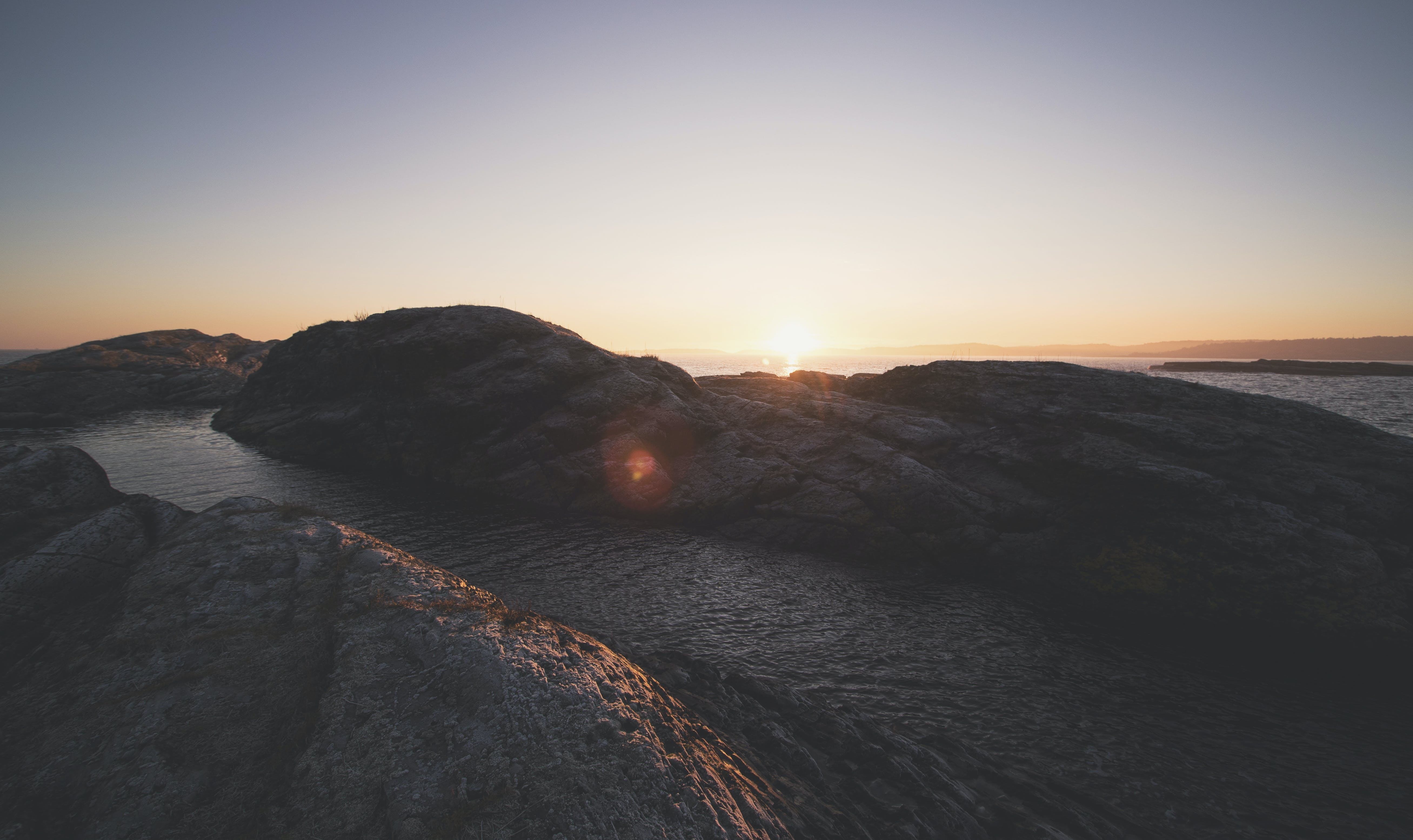 Sunset in the Mountain Illustration