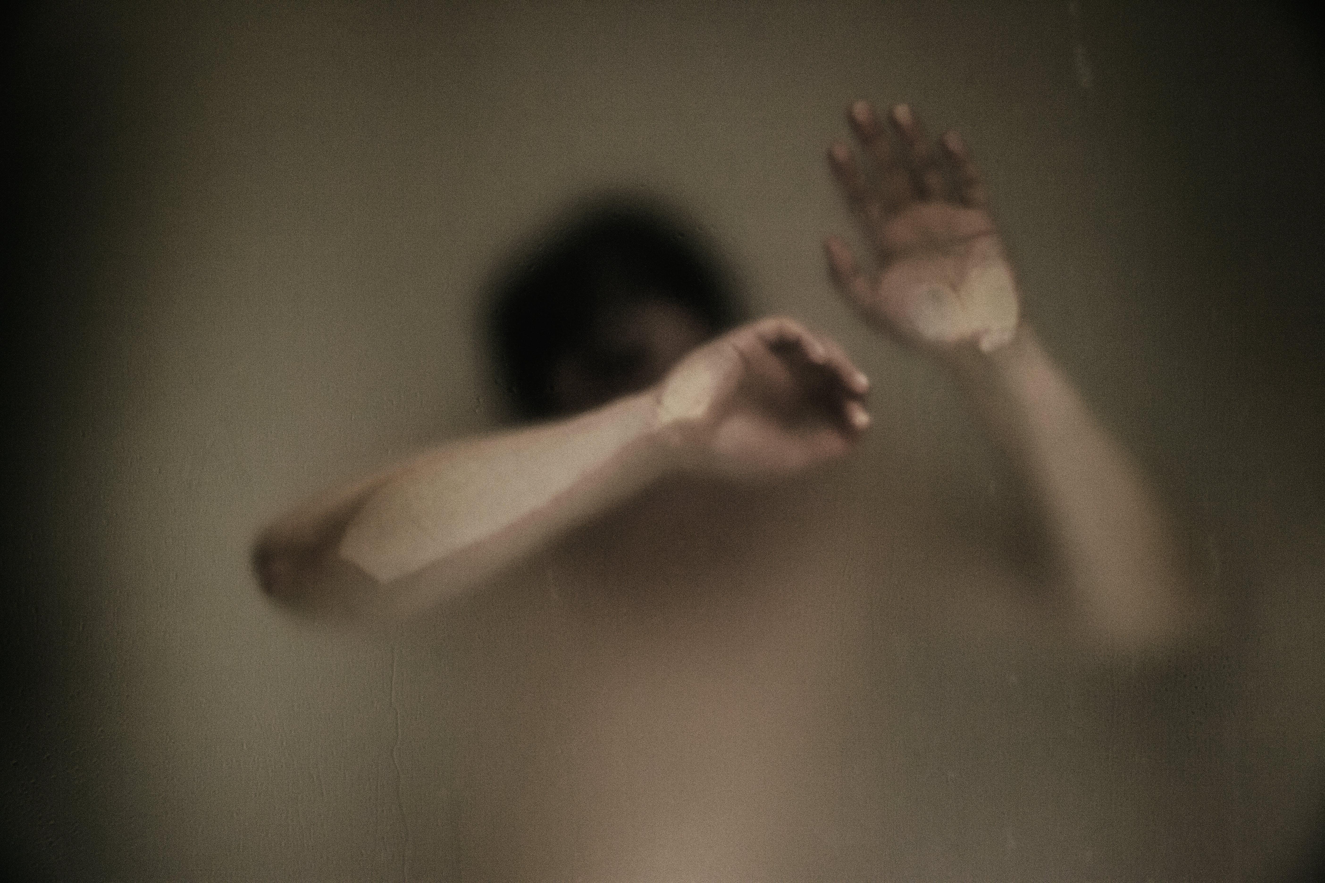 bathing, blur, fog