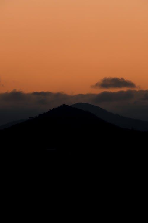 Foto stok gratis bayangan hitam, di luar rumah, Fajar