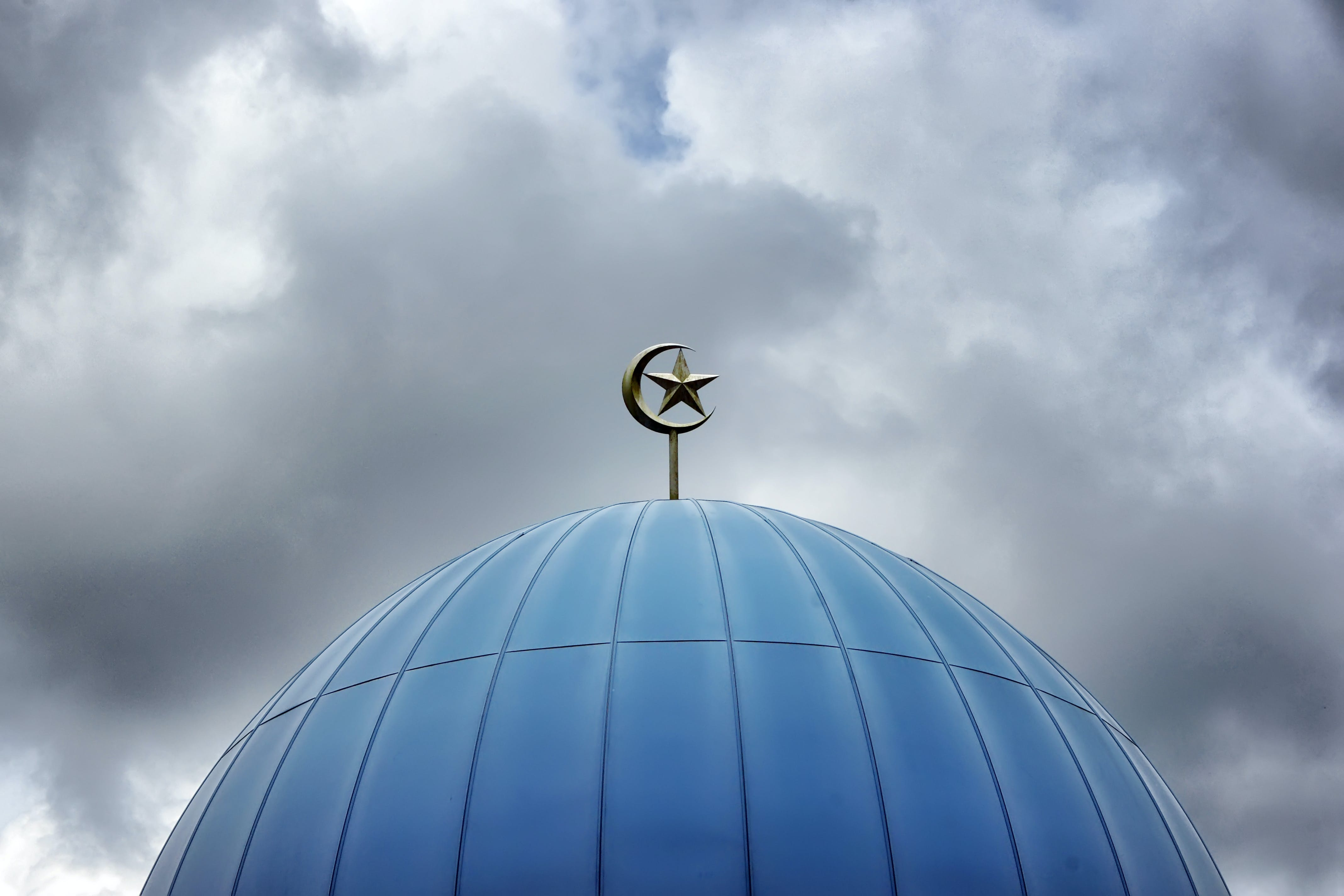 Silver Mosque Top Dome Ornament