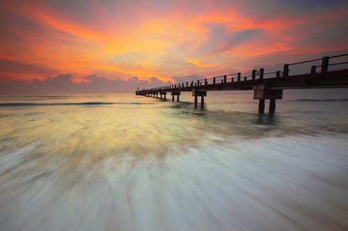 Δωρεάν στοκ φωτογραφιών με Ανατολή ηλίου, αποβάθρα, δύση του ηλίου, θάλασσα