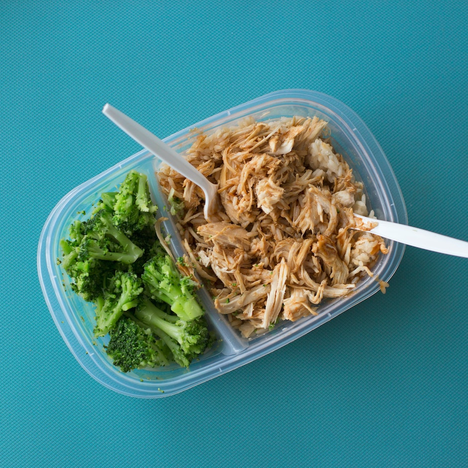 Tuna Salad on Transparent Lunch Pack