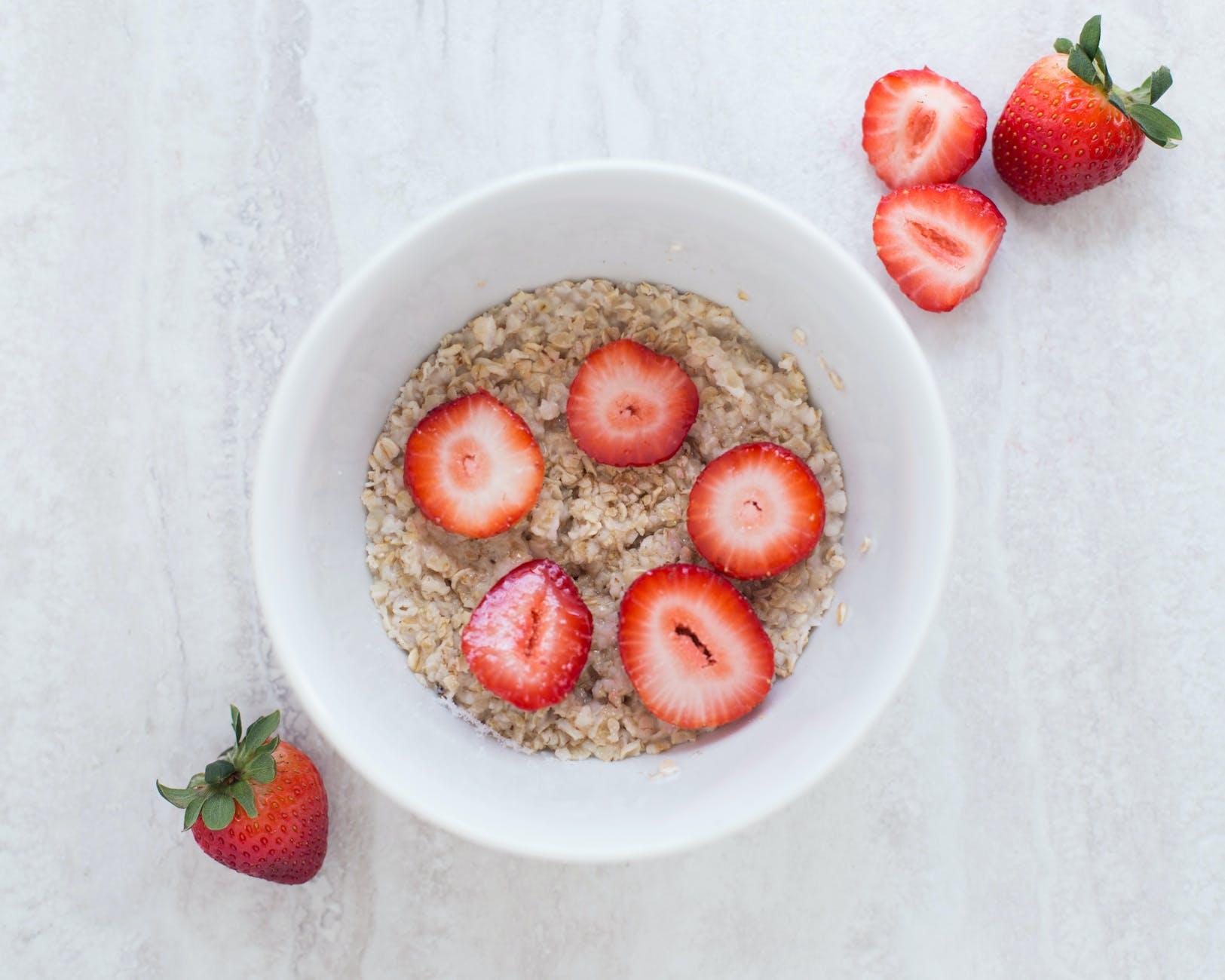 strawberries fresh strawberry oatmeal