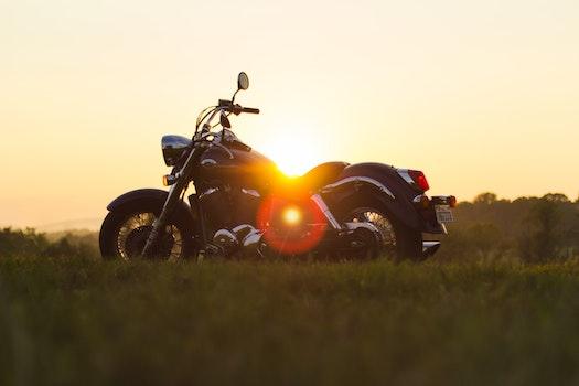 Free stock photo of sunset, motorbike, motorcycle, trip