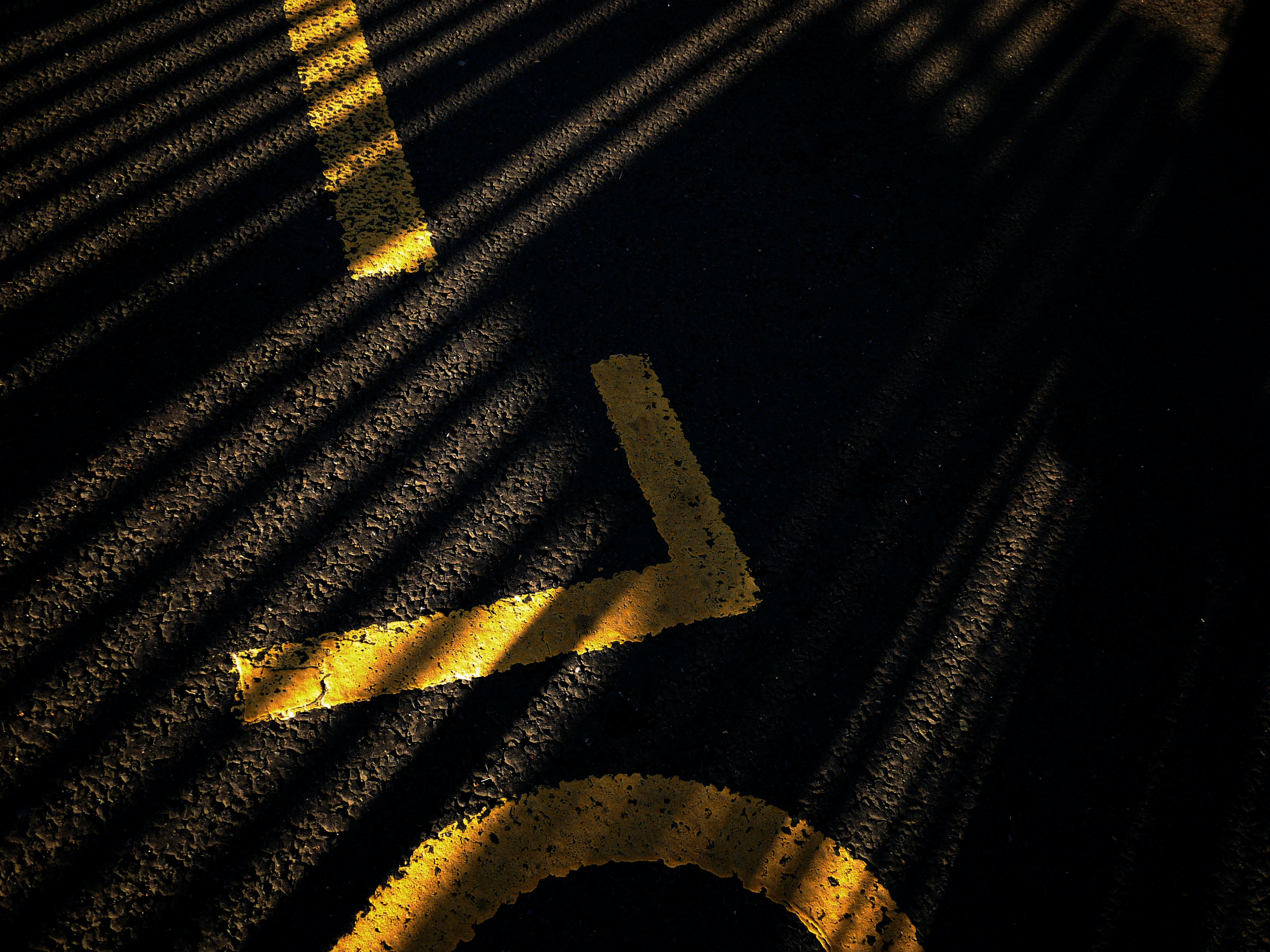 Free stock photo of dark, light, road