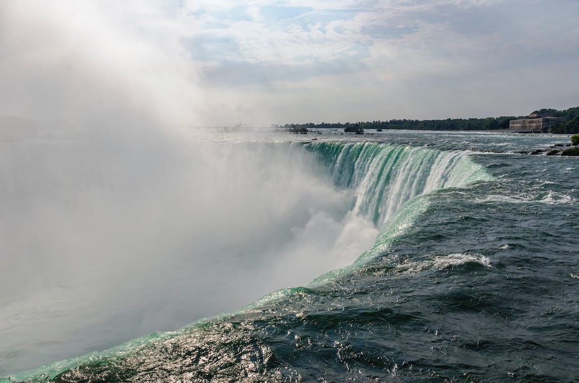 mlha, Niagárské vodopády, voda