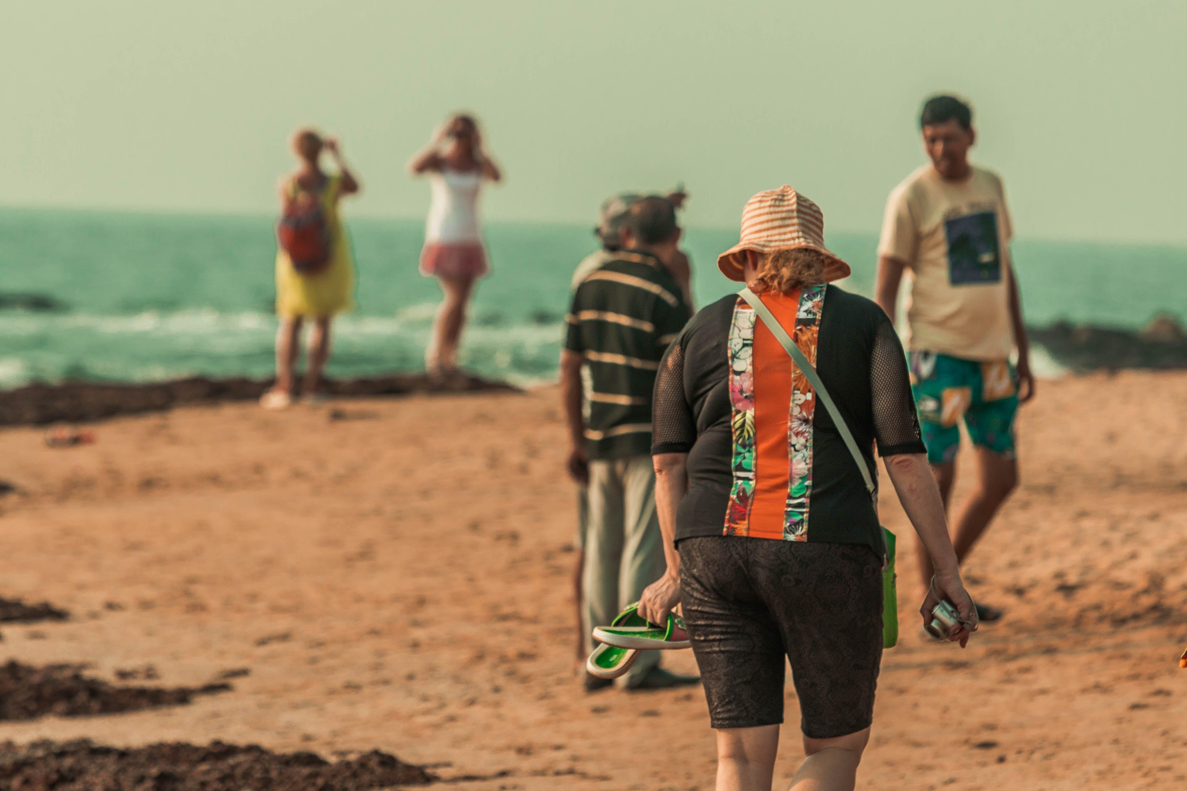 Free stock photo of beach, ocean, travellers