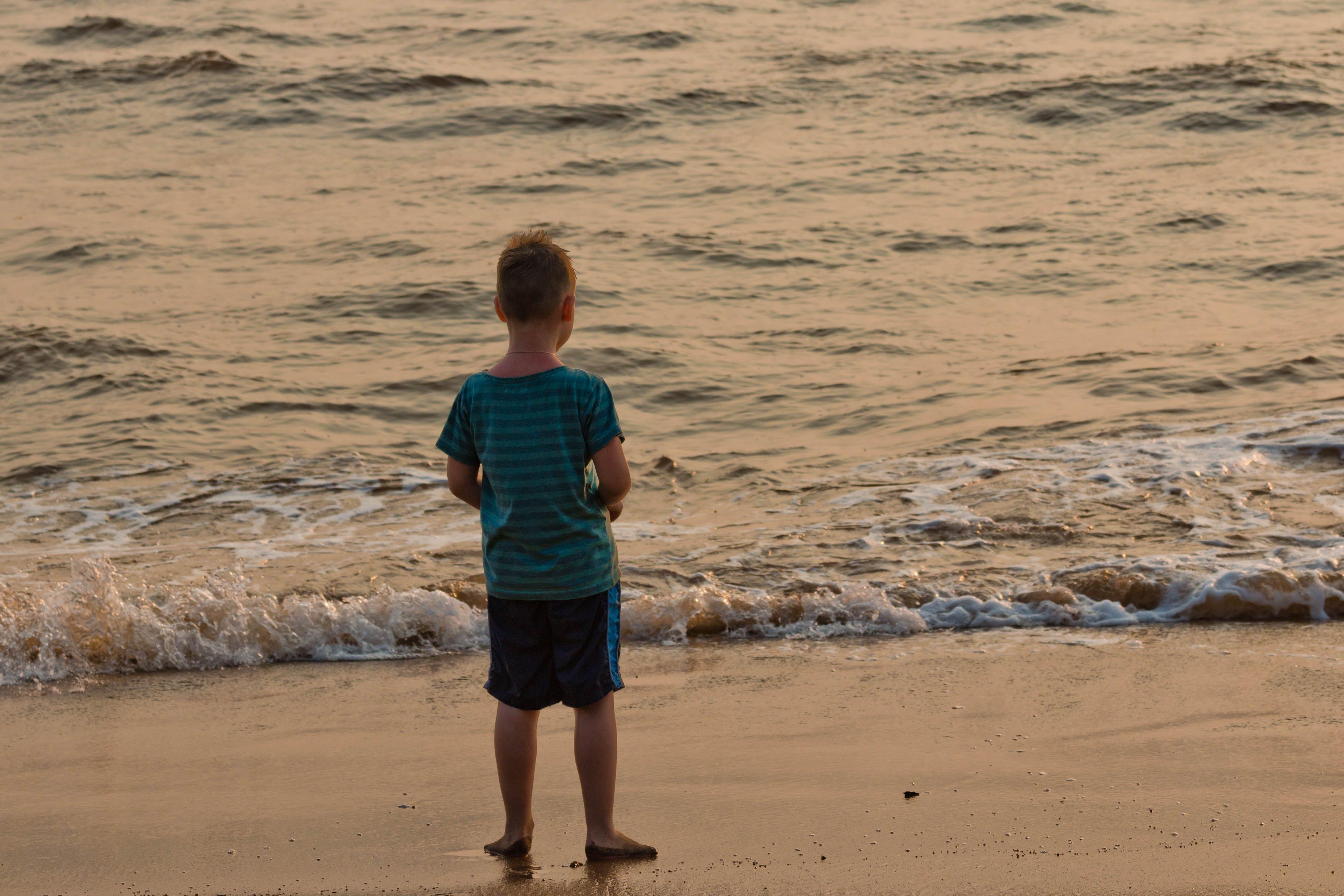 Free stock photo of beach, ocean, kid