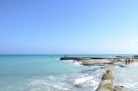 sea, beach, people