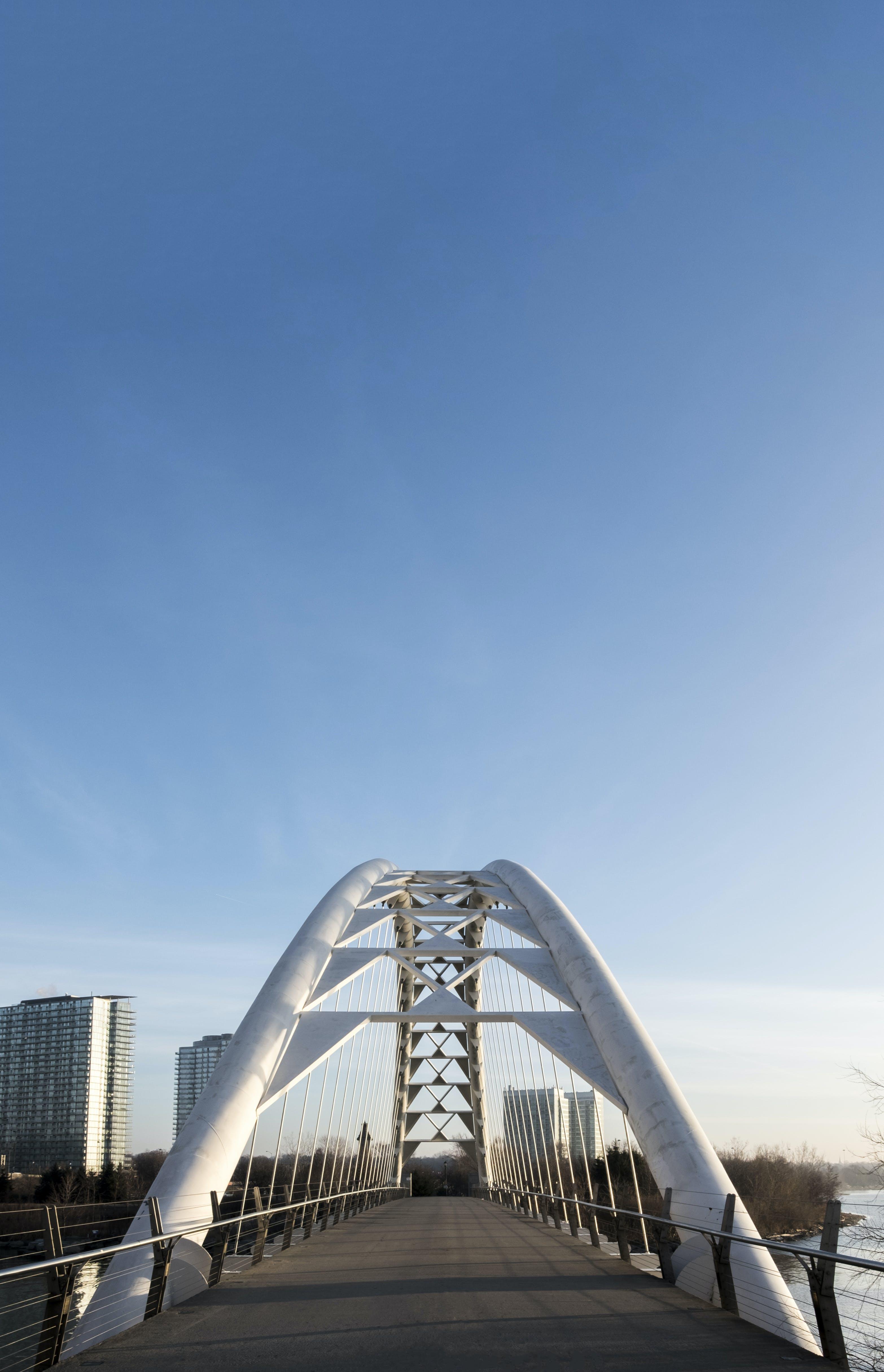 Základová fotografie zdarma na téma centrum města, humber bay arch bridge, most, oblouk