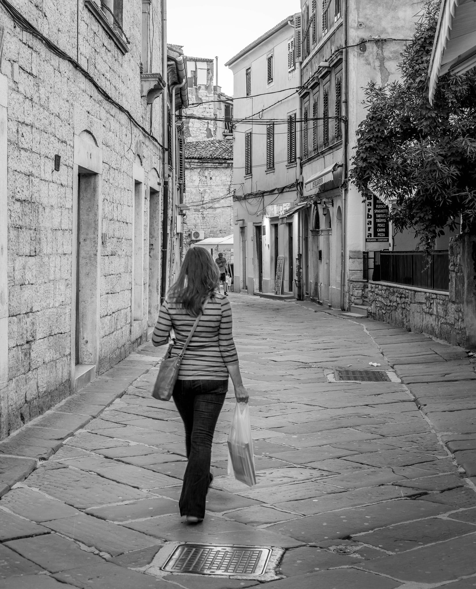 Free stock photo of street, travel, walk, black and white