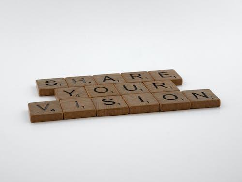 Close-Up Shot of Scrabble Tiles