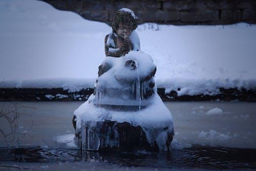 겨울, 눈, 동상, 락의 무료 스톡 사진