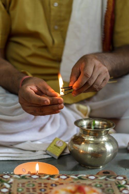 Foto d'estoc gratuïta de clareja, encens, espelma