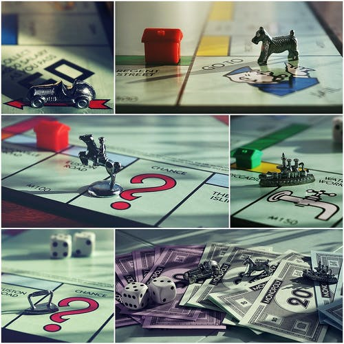 Monopoly Items in a Collage Edit